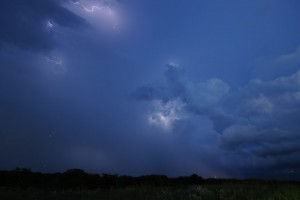 If you look closely you can see both the Lightning, and the Lightning Bugs!